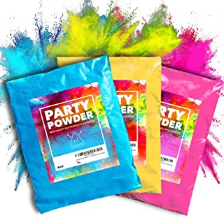 Hawwwy Color Powder (3) Pounds Pink, Blue, Yellow Packets of Colorful Powder, Used for Color Run, Gender Reveal, Smoke Pho...