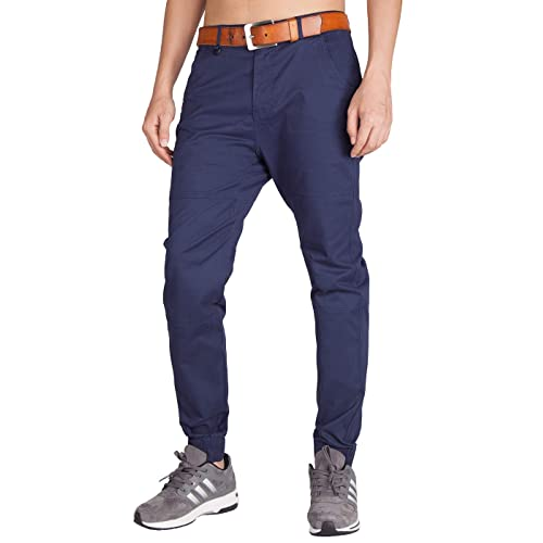 c228b47687cc3 ITALY MORN Men s Chino Jogger Pants Casual Slim Fit Stretch Sweatpants