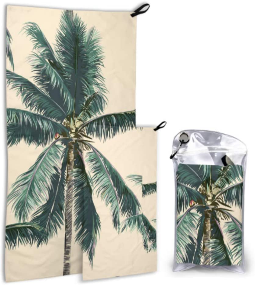 WUTMVING Tropical Tree Plant Summer 5 popular Pack Camping New York Mall 2 To Microfiber