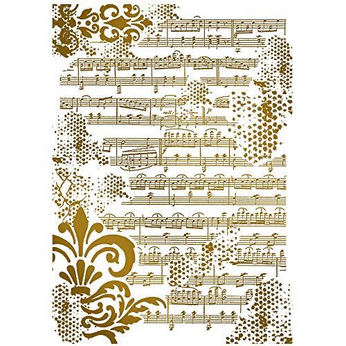 Zita`s Creative Schablone 21x29,7cm - Noten. Schablone, Stencil