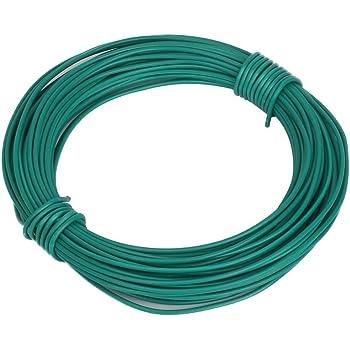 Shintop 50 Feet Sturdy Plastic Coated Garden Wire 1.8mm Plant Twist Tie Garden Training Wire (Green)