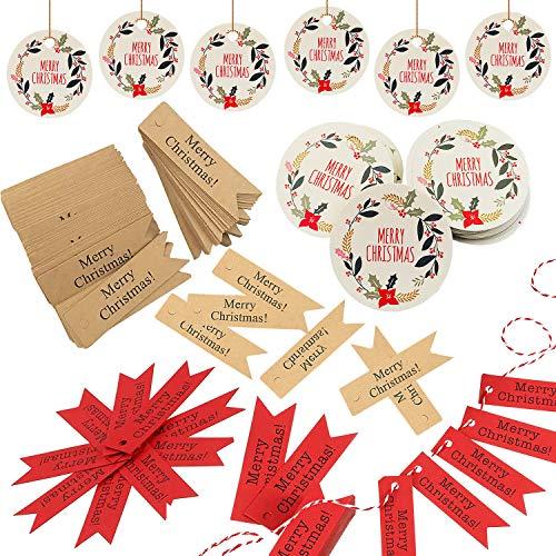 CHEPL 300pcs Geschenkanhänger Kraftpapier für Hochzeit Geschenke zum Basteln als Preis-EtikettenKraftpapier Tags für Gepäck und DIY Tags(Ohne Jutefaden)