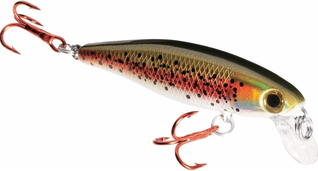 Count 1 | 2 Walleye Carp Multiple BB Chamber Inside | Dynamic Lures Trout Fishing Lure Trout - Size 10 Treble Hooks for Fishing Bass