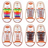 Talent Fashion No Tie Shoelaces for Kids/Adult Tieless Elastic Silicone Shoelace