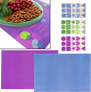 Chameleon Brandz (2 Piece) Color Changing 18 x 12 Inch Placemats With Stickers For Kids Party Favors Kitchen Decor
