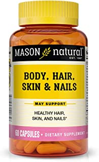 Mason Natural, Body Hair Skin & Nails Beauty Formula Vitamins, 60 Capsule, Multivitamin Dietary Supplement ...