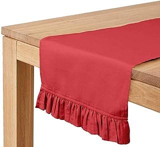 Vargottam Noire De Pêche Hécoration De Maison Chemin De Table De Coton Table À Manger Lavable De Linge De Table De La Mais...