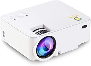 Mini Projector, 3Stone Upgraded 3000L Portable LCD Video Projector with 1080P Supported and Built-in Speakers, Multimedia Home Theater Small Projector Compatible with HDMI, USB, AV, DVD, VGA, Laptop