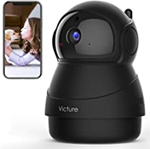 Victure 1080P Pet Camera with WiFi IP Camera Indoor Security Camera Motion Detection Night Vision Home Surveillance Baby E...