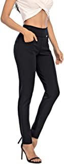 neezeelee Dress Pants for Women Comfort Stretch Slim Fit Leg Skinny High Waist Pull on Pants with Pockets for Work