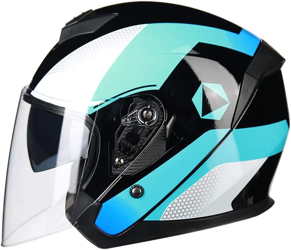 Details about  /DOT Motorcycle Helmet Full Face Double Visor Motor Helmet With Personality Braid