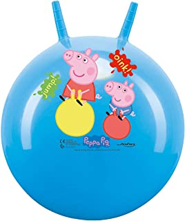 John Springbal voor kinderen Hopper Ball Kanguro Peppa Pig blauw 45 cm