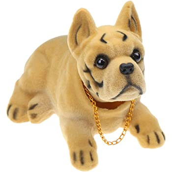 LIOOBO Car Dashboard Bobble Shaking Head Pug Dog Doll Toy Ornaments for Car Interior Decorations