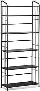 Yaheetech Libreria Scaffale Metallo Porta Libri Piante Fiori a 5 Ripiani da Camera Balcone