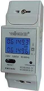 Velleman EMDIN02 - Medidor de kwh para Uso Profesional,