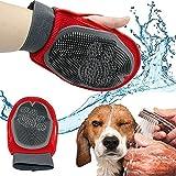 BPS® Guante Masajeador para Mascotas Perros y Gatos, Guantes Manopla Masaje, Retiro del Pelo y Aparato de Masaje