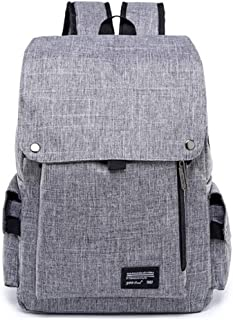 CHENDX Handbags Men's and Women's Fashion Oxford Cloth Flip Large Capacity Backpack Multi-Function Outdoor Travel Bag (Color : Gray, Size : 42cm*29cm*13cm)