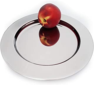 Stainless Steel Metal Charger Plates, 8.66 inches. Round Metal Dinner Charger Plate. Dishwasher Safe. Set of three (3).