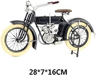 ZXWDIAN Colección de modelos de coches American retro metal antiguo adornos de decoración para el hogar | Primera motocicleta bimotor tipo V de 1909 de Harley | Gris oscuro, Gris claro Coches Vehículo