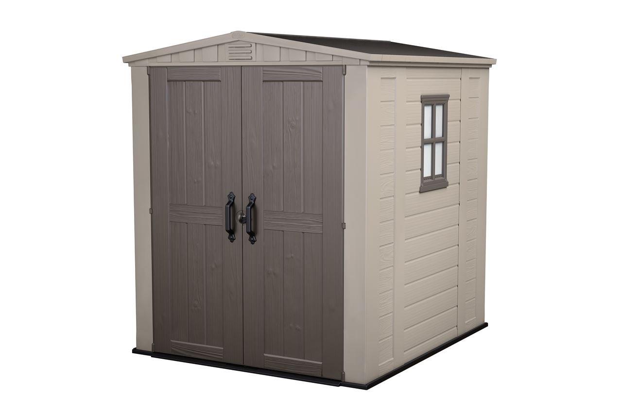 Keter Factor 6 x 6 - Cobertizo con cerradura. Caseta para jardín de 6.100 l, resistente al invierno: Amazon.es: Jardín