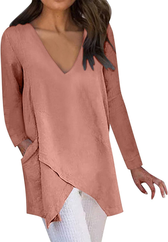 Our shop most popular Womens Tops Max 80% OFF Women Casual V-Neck Half Sl T-Shirt Summer Irregular