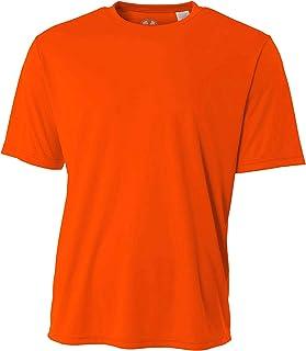 Mens Rash Guard Surf Swimwear Swim Shirt SPF Sun Protection Loose Fit Fitting Hi Visibility Orange