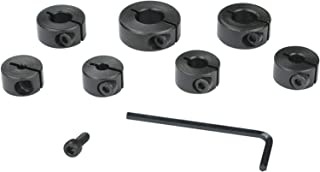 POWERTEC 71199 Split Ring Stop Collar, 7-Piece Set, 1/8