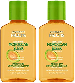 Garnier Fructis Sleek & Shine Moroccan Sleek Oil Treatment, 3.75 Fl. Oz, 2 Count