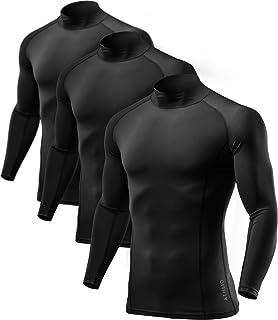 ATHLIO(アスリオ) スポーツウェア 長袖 ハイネック メンズ コンプレッション スポーツ シャツ [UVカット・吸汗速乾] コンプレッションウェア ランニング 野球 スポーツインナー