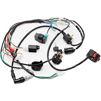 Amazon.com: Full Electrics Wiring Harness Coil CDI Spark Plug Kits For 50cc  70cc 90cc 110cc 125cc 140cc ATV Quad Pit Dirt Bike Buggy Go kart: AutomotiveAmazon.com