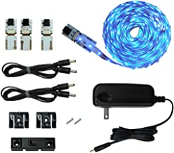 Cut and Connect LED Light Strips| Super Bright - 18 LEDs per Foot | Blue | 9.5ft/ 3M | Flexible LED DIY Kit | Inspired LED