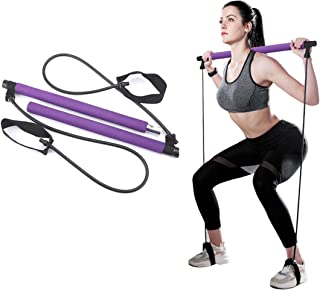goldflower Pilates Bar Kit with Resistance Bands, Yoga...
