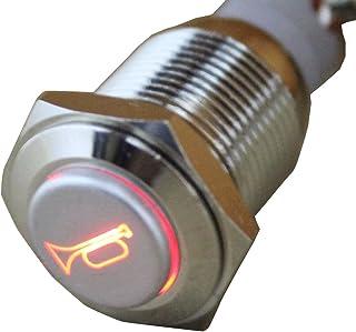 Qii lu 1A 24V 8mm Mini impermeabile auto momentaneo pulsante interruttore di accensione in lega di zinco-alluminio nero,