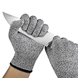 VENCY Cut Resistant Gloves, High Performance Level 5 Protection, Food Grade Kitchen Glove