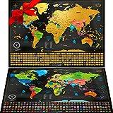 Carte du Monde à gratter XXL - Carte du Monde en Poster Extra Large et Personnalisé...