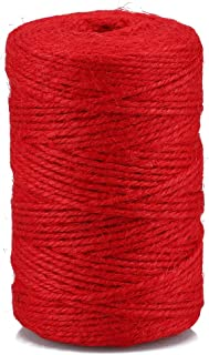 Rote Schnur, 100M 2MM Juteschnur Paket Dekorationsschnur für Kunst und Handwerk