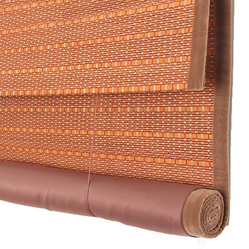 JIAYUAN Bamboe Rolgordijnen Bamboe Roll Up Venster Blind Zonnekap Ideaal voor Verduisteringskamer Woonkamer Balkon ramen, 85cm/105cm/ 125cm/ 135cm/ Brede Bamboe Roll up Blinds met Fitting