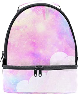 Mydaily Kids Lunch Box Unicorn Galaxy Cloud Reusable Insulated School Lunch Tote Bag