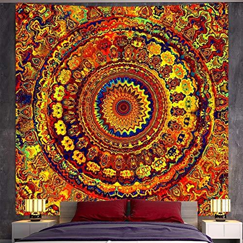 KHKJ India Mandala Tapiz de brujería Tapiz decoración Bohemia decoración del hogar colchón Hippie A2 200x150cm