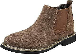 Men's Formal Dress Slip on Ankle Suede Chelsea Boots