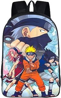 Naruto Anime Imagen Mochila de la Escuela Estudiante Bolsas Escolar Bolsa de Ocio Niño y Niña Viaje Backpack Regalo