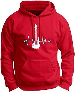 Music Lovers Gifts Electric Guitar Heartbeat Guitar Premium Hoodie Sweatshirt