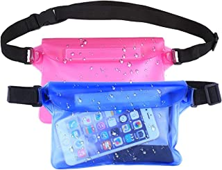 Yigou Waterproof Pouch Bag 2 Pack with Wist Strap Universal Dry Bag Case Prefect to Keep Your Phone Dry and Safe Idear for Boating Swimming Snorkeling Kayaking Beach Water Parks Fishing