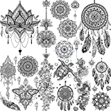 Best Henna Tattoo Kits - 6 Sheets FANRUI Black Henna Temporary Tattoos For Review
