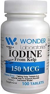 Iodine from Kelp 150 mcg (100) - Wonder Labs