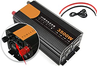 HTDZDX Inverter 1200W 1600W 2600W 3500W Pure Sine Wave 12 / 24v to 220v Transformer Plug Dual USB Car for Car LCD Monitor, iPhone, IPad and Tablet Laptop 12V-3500W (Color : 3500W)