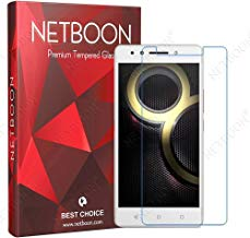NETBOON® Premium Quality Screen Guard Gorilla Tempered Glass Pure Transparent 9H Hardness for Lenovo K8 Note