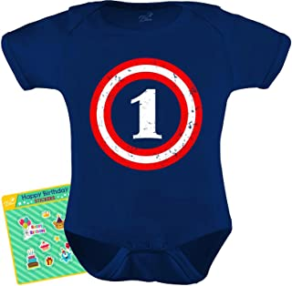 Captain 1st Birthday Gift for One Year Old Infant Baby Bodysuit