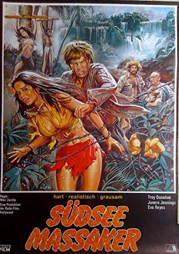 Preisvergleich Produktbild Südsee-Massaker (1971) / original Filmplakat,  Poster [Din A1,  59 x 84 cm]