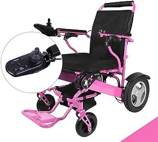 LOLRGV Portátil de Silla de Ruedas eléctrica Plegable de Bluetooth del teléfono móvil Remoto Control de Potencia Sillas de Ruedas Ayuda a la Movilidad para sillas de Ruedas,Ordinarymodels